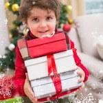 Festive little boy smilin — Stock Photo #62487493