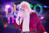 Santa Claus is singing — Stock Photo