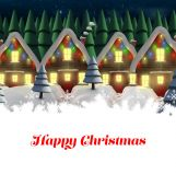 Happy Christmas against row of house — Foto Stock