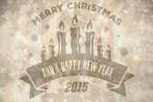 Composite image of merry christmas message — ストック写真