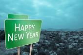 Composite image of happy new year — Stock Photo