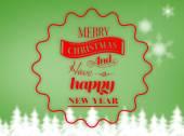 Logo wishing merry christmas — Stock Photo