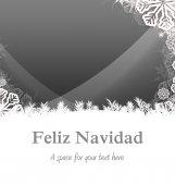 Feliz navidad against christmas snowflake — Zdjęcie stockowe