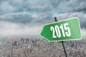 Composite image of 2015 in bold grey — Stock Photo