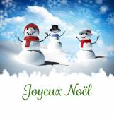 Composite image of joyeux noel — Stockfoto