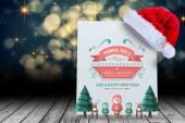 Composite image of merry christmas message — Stok fotoğraf