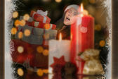 Woman holding many christmas presents — Stock Photo