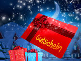 Vol de carte-cadeau et cadeaux — Photo