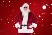 Santa Claus wears black sunglasses — Stock Photo