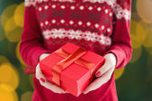 Close up of christmas present — Stock Photo