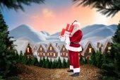 Santa carries few presents — Stock Photo