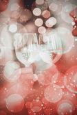 Happy couple enjoying some wine — Foto de Stock