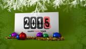 Composite image of happy new year 2015 — Stock Photo