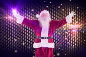 Jolly Santa opens his arms — Stock Photo