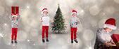 Different festive boys — Photo