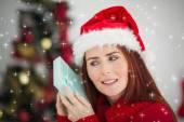 Redhead festiva celebración de Navidad — Foto de Stock