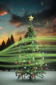 雪花圣诞树 — 图库照片
