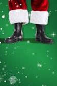 Santa claus boots — Stock Photo