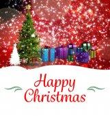 Рождественская поздравительная открытка — Стоковое фото