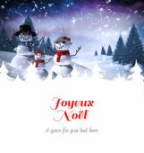 Composite image of joyeux noel — ストック写真