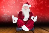 Santa Claus sits and meditates — Photo