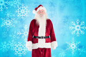 Jolly Santa smiling — Stock Photo