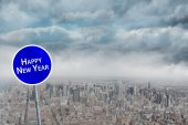 Composite image of happy new year — Foto Stock