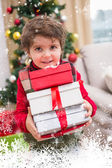 Festive little boy smilin — Stock Photo