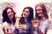 Composite image of friends with drinks — Fotografia Stock