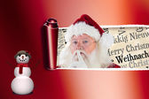 Santa asking for quiet — Stock Photo