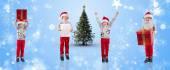 Different festive boys — Fotografia Stock