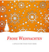 Composite image of christmas greeting in german — Stock Photo
