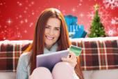 Kobieta zakupy online — Zdjęcie stockowe