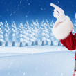 Mid section of santa pointing — Stock Photo #62490183