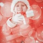 Cute little boy in santa costume — Stock Photo #62491517