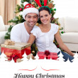 Couple celebrating Christmas — Stock Photo #62495739