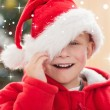 Festive little boy smiling — Stockfoto #62498775