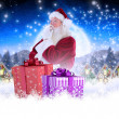 Santa is thinking about something — Stock Photo #62499995