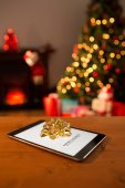 Diet new years resolution against tablet — Stockfoto