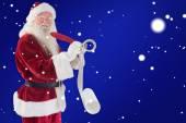 Santa writing his list — ストック写真