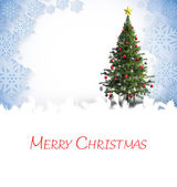 Composite image of merry christmas — Stock Photo