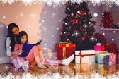 Mother and daughter waiting for santa claus — Stock Photo