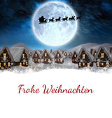 Christmas greeting in german — Stock Photo