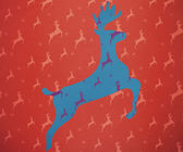 Reindeer running against blue and purple — Stock Photo