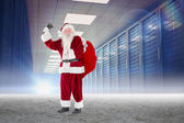 Santa ringing his bell — Stock Photo