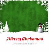 Merry Christmas snowflake frame — Stockfoto