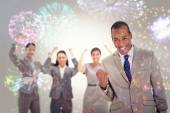 Very enthusiast business people — Stock Photo
