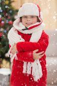 Festive little boy smiling — Stock Photo