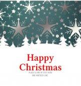 Happy christmas against snowflake — Stock Photo
