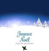 Joyeux noel against snowy landscape — Stock Photo